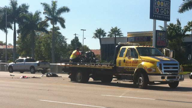 Motorcyclist injured in crash on U.S. 41 in Fort Myers