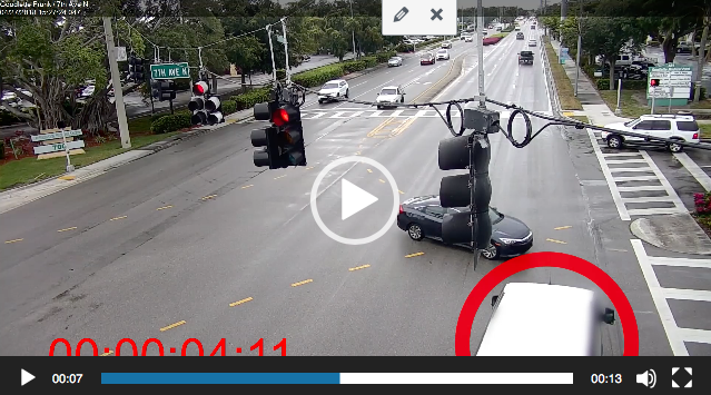 Car wreck caught on camera in Naples, Florida